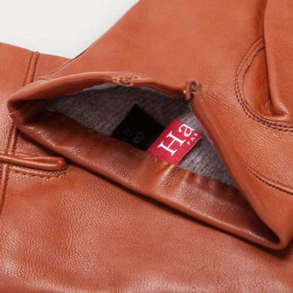 Hazelnut leather gloves
