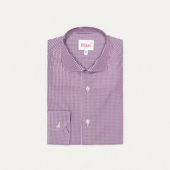 Extra-Slim Purple Gingham...