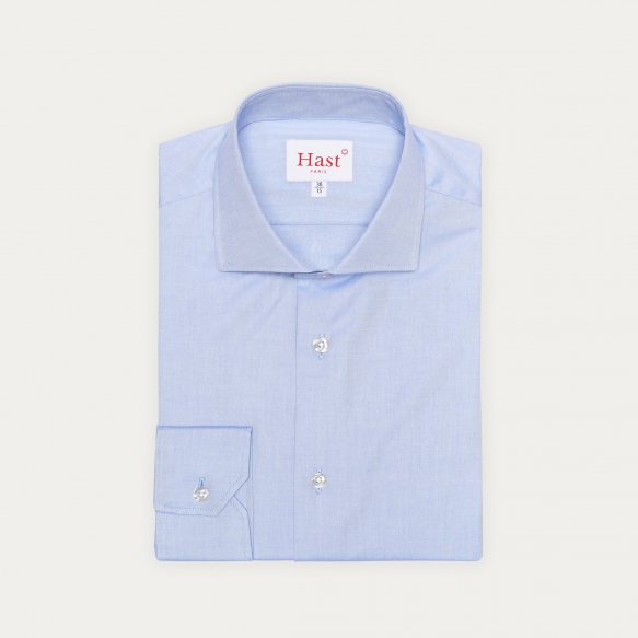 Slim fit blue oxford shirt
