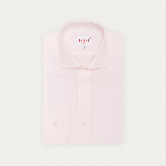 Chemise classique en popeline rose pâle