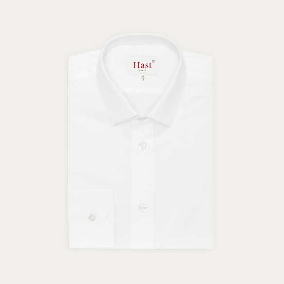 White Shirt With French Collar
