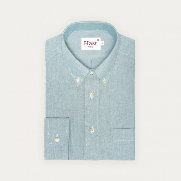 Relaxed fit green oxford shirt