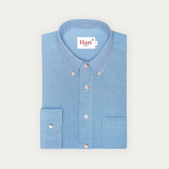 Relaxed fit blue oxford shirt