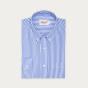 Chemise décontractée en popeline à rayures bleues