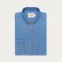 Relaxed fit light blue denim shirt