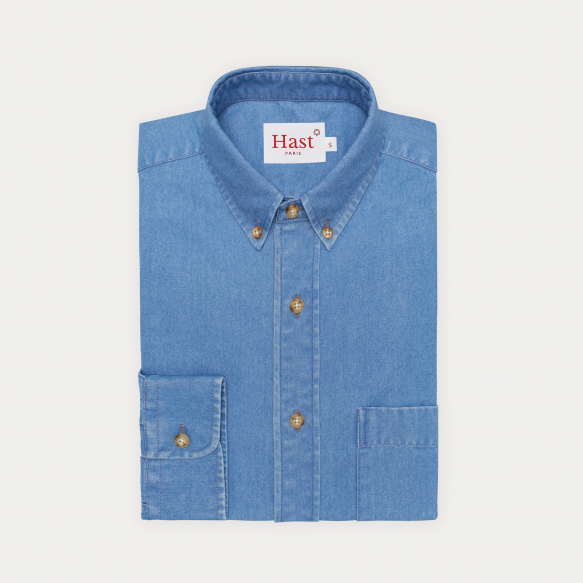 Relaxed fit light blue...
