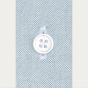 Classic fit blue-grey oxford shirt