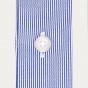 Slim fit thin navy blue stripes twill shirt