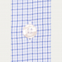Chemise cintrée en twill à carreaux bleus