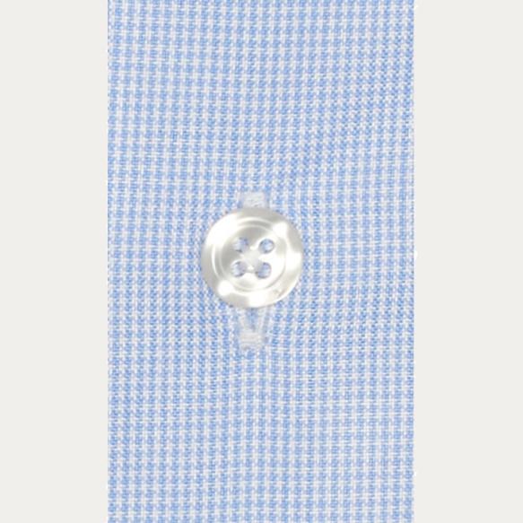 Chemise cintrée en oxford pied de puce bleu clair