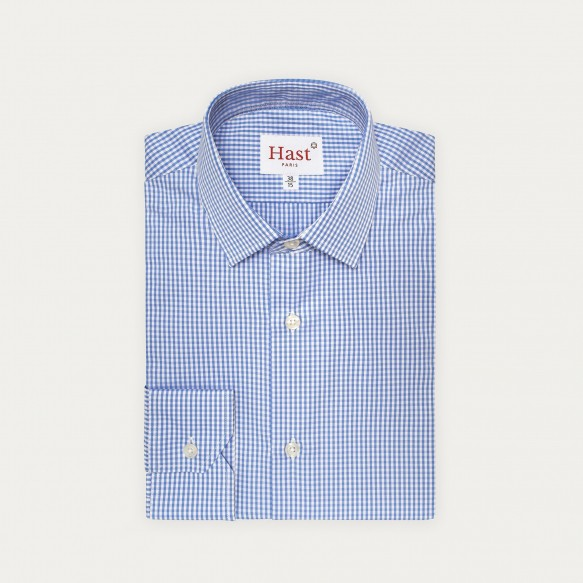 Blue Gingham Shirt With...