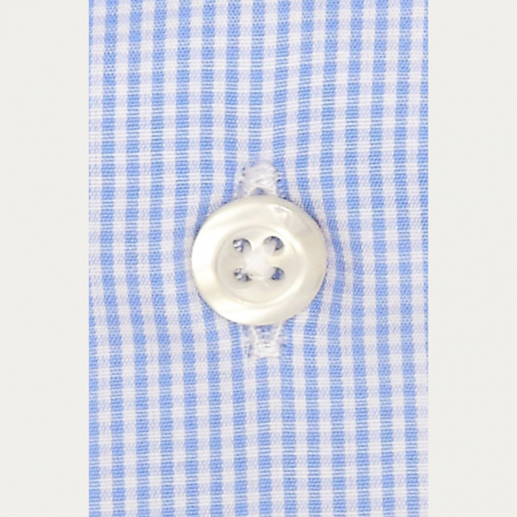 Light Blue Check Shirt With...