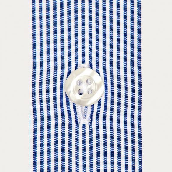 Dark-Blue Small Stripe Shirt