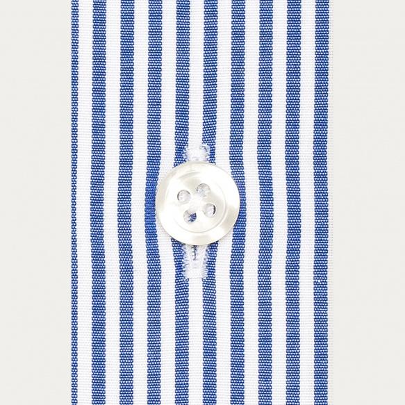 Chemise classique en popeline à rayures bleu foncé
