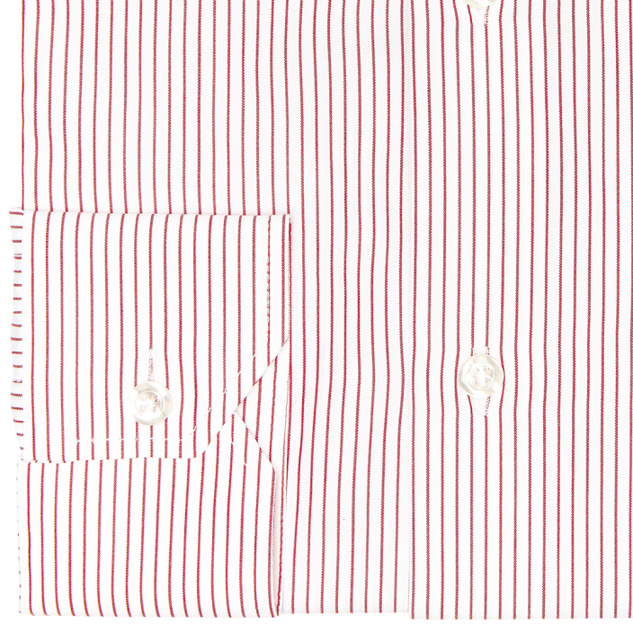 Red Striped Shirt With French Collar