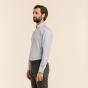 Extra-Slim Light-Blue Check Shirt