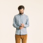 Relaxed fit thick light blue flannel shirt