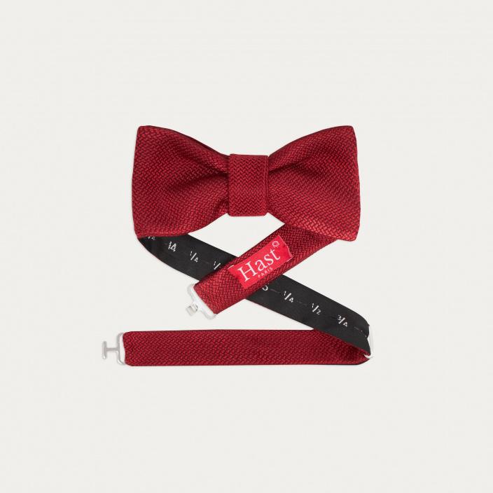 Burgundy Silk Grenadine Bow Tie