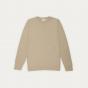Pull en fine laine merinos texturée beige