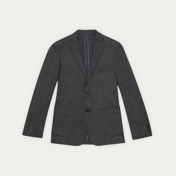 Grey wool flannel jacket
