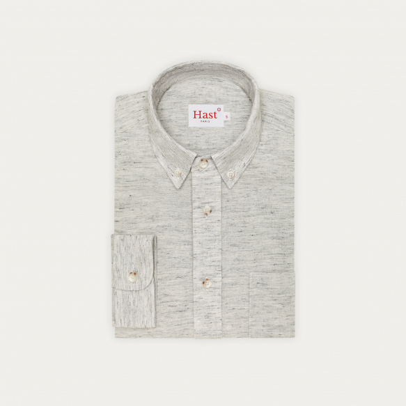 Heathered grey cotton,...