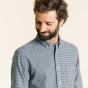 Chemise décontractée en flanelle pied-de-poule bleu marine
