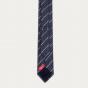 Cravate texturée bleue à rayures