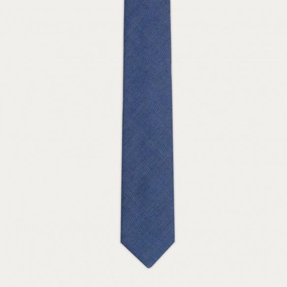 Blue flannel tie