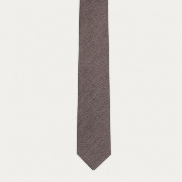 Beige flannel tie