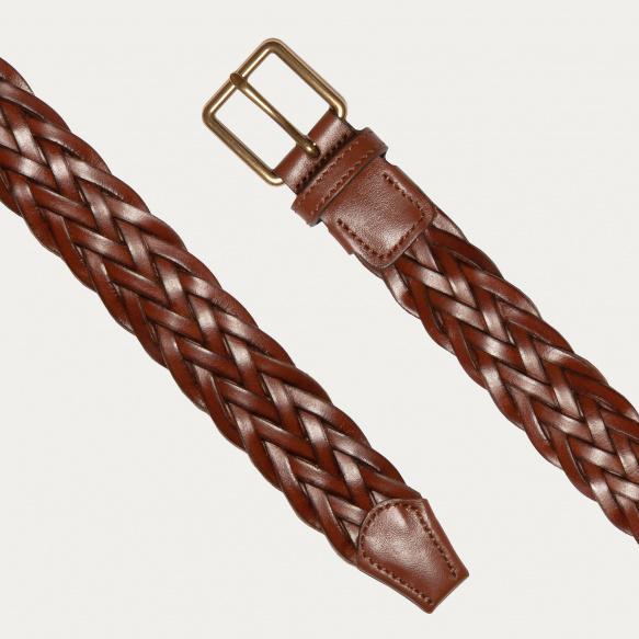 Brown braided Italian...