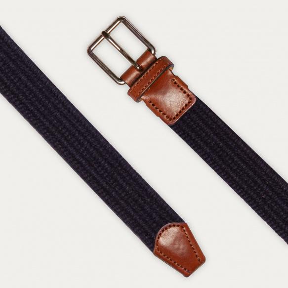Blue wool belt