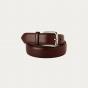 Burgundy full-grain leather belt