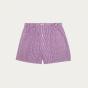 Purple gingham upcycled boxer