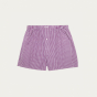 Purple gingham upcycled boxer