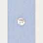 Chemise cintrée en fil-à-fil Bleuet
