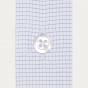 Extra-slim blue small check shirt