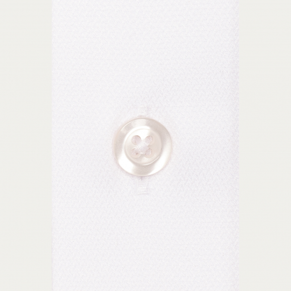 Slim fit dobby white shirt