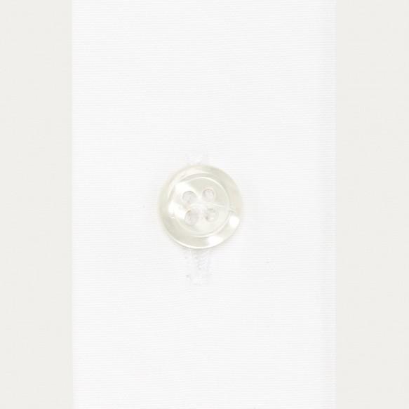 Chemise cintrée en popeline blanche poignets mousquetaires