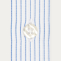 Slim fit thin blue stripes poplin shirt