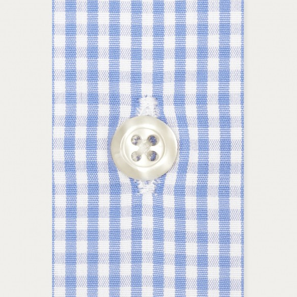 Classic fit blue gingham...