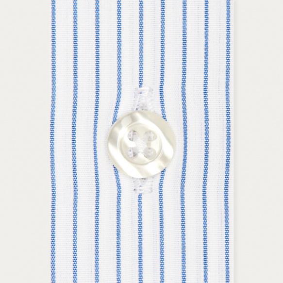 Chemise classique en popeline à fines rayures bleues