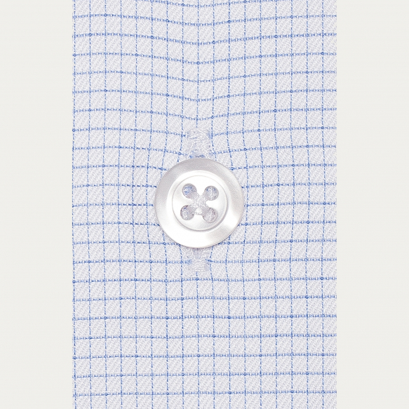 Blue Small Check Shirt