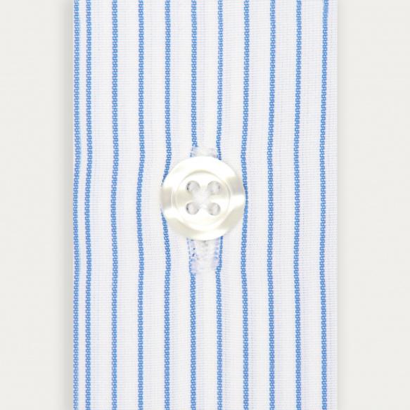 Double Cuff Blue Stripe Shirt