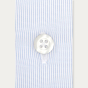 Classic fit semi plain thin blue stripes poplin shirt