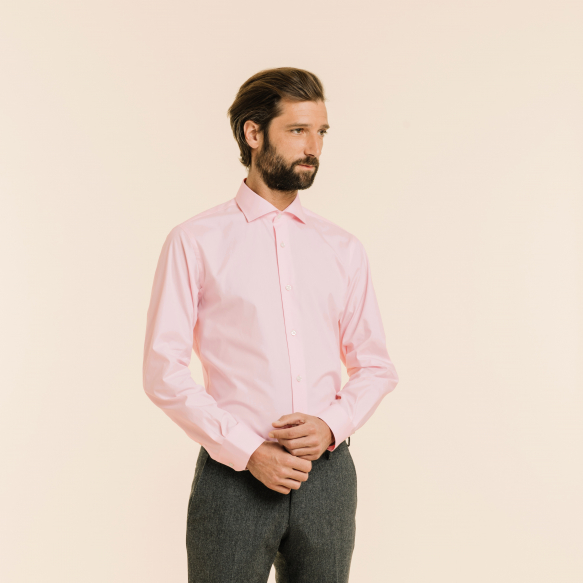 Classic fit light pink...