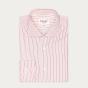 Classic fit thin red stripes poplin shirt