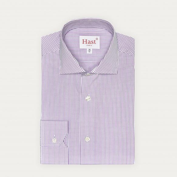 Chemise cintrée à carreaux pourpres