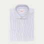 Extra-Slim Midnight Blue Striped Shirt With French Collar