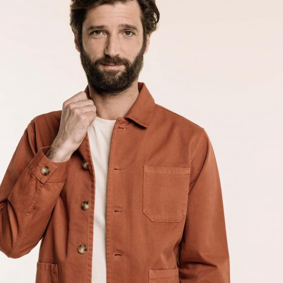 Rust worker's jacket