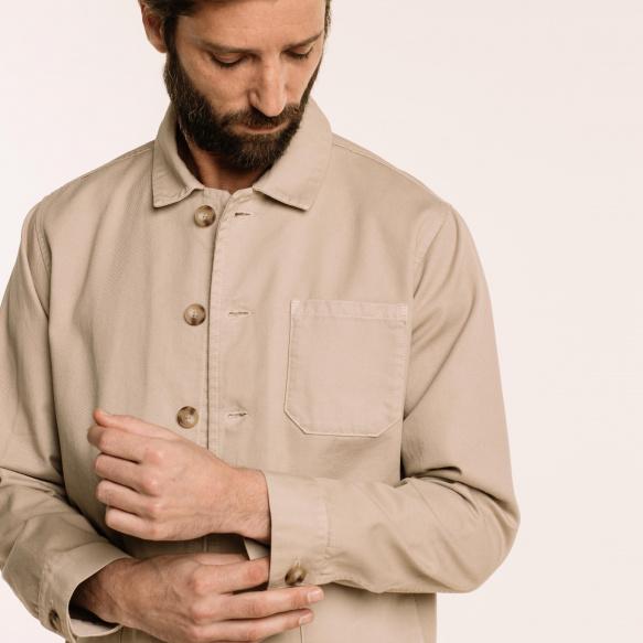 Beige worker's jacket